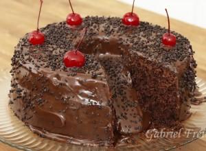 bolo de chocolate de festa