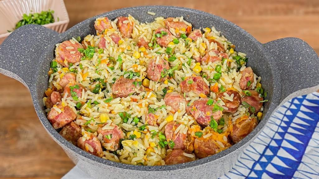 arroz com linguiça toscana